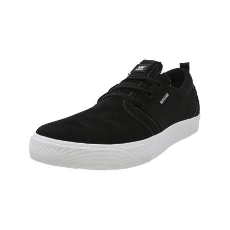 0fb97b2c8c Supra Men's Flow Burgundy / White Ankle-High Leather Skateboarding Shoe -  10M - image ...