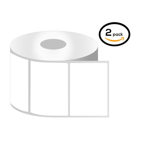 "OfficeSmartLabels 4"" x 3"" Thermal Transfer Labels, Zebra Compatible Labels (2 Rolls, 500 Labels Per Roll, 1 inch Core, White, 4"" Diameter, Perforated)"