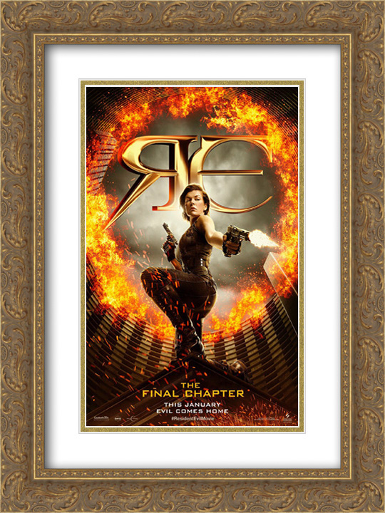 Resident Evil The Final Chapter 18x24 Double Matted Gold Ornate
