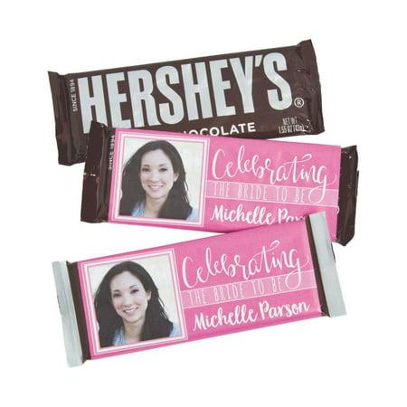 Custom Sticker Labels (Custom Photo Bridal Shower Candy Bar Sticker)
