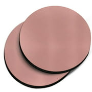 CARIBOU Round Neoprene Car Coaster for Drinks, Set of 2pcs, Solid Rose Gold