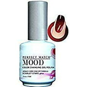 LeChat Perfect Match Mood Color Changing Gel Polish (with Nail Glitter Kit) LED & UV Cured Soak Off Nail Formula 0.5 oz (Afterglow)