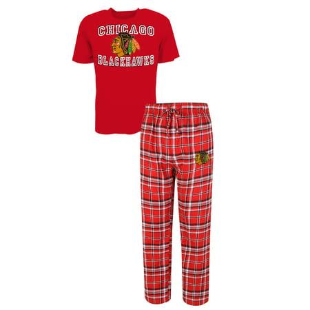 Chicago Blackhawks Tiebreaker Mens Pajama Set