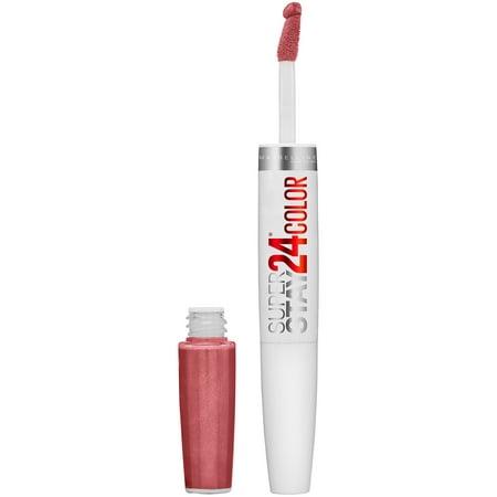 Maybelline SuperStay 24 2-Step Liquid Lipstick Makeup, Forever Chestnut, 1 kit
