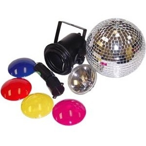 8-inch Diameter Disco Professional Mirror Ball Party Kit by Visual Effects