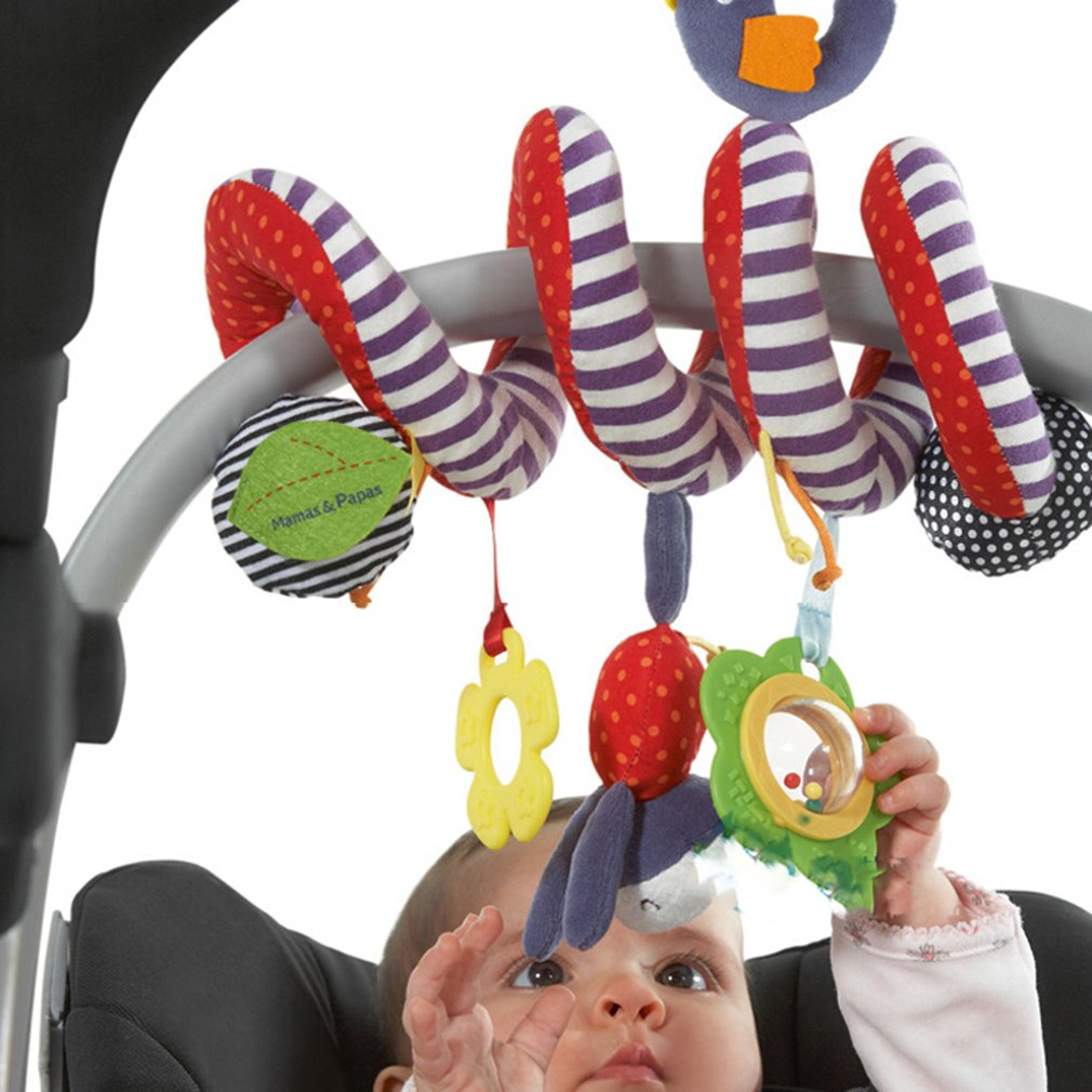 Cute Infant Baby Play Activity Spiral Bed & Stroller Toys Set Hanging Toys