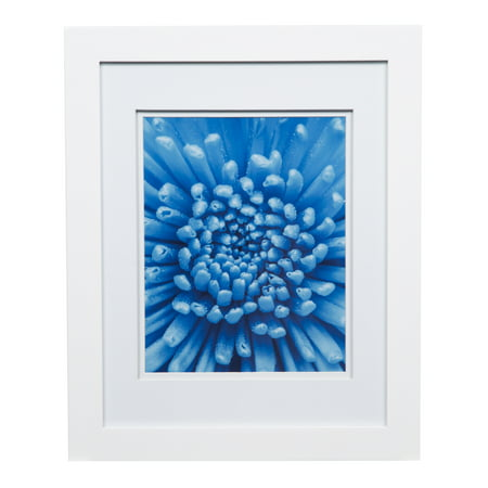 8x10 White Mat - Gallery Solutions 11x14 Wide White Frame with Double Mat For 8x10 Image