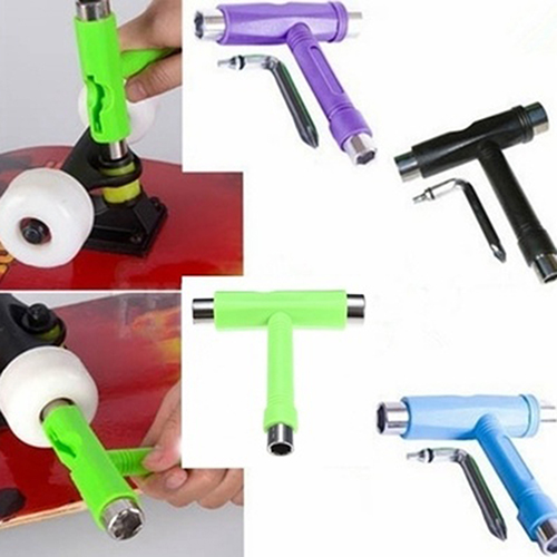 Girl12Queen Multifunctional Skateboard Adjusting T-shape Wrench Scooter All-In-One Repair Tool by 3.84