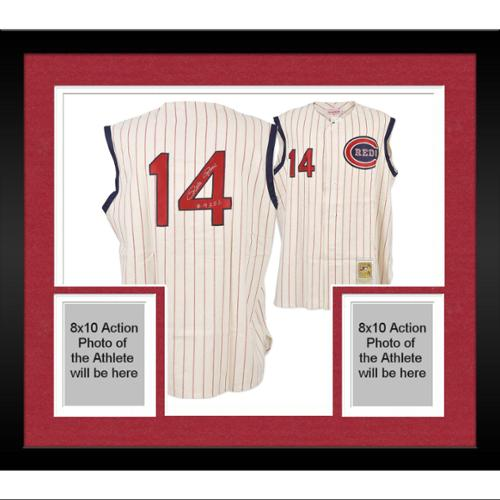 Framed Pete Rose Cincinnati Reds Autographed 1963 Home Crme Jersey with 4256 Inscription - Fanatics Authentic Certified
