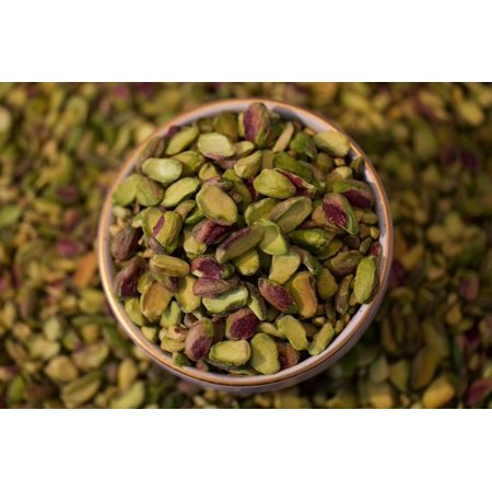 AIVA California Pistachios Halves and Pieces Raw Unsalted 1 lb