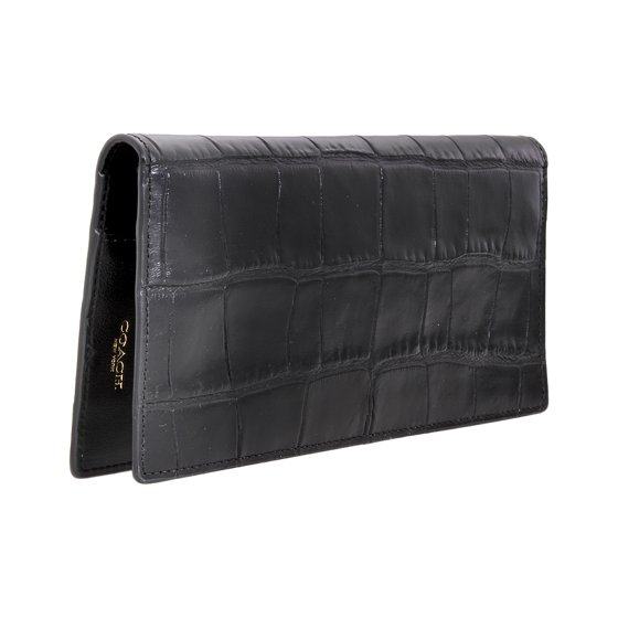 4752b44e Coach Men's Large Leather Breast Pocket Wallet 28402BLK