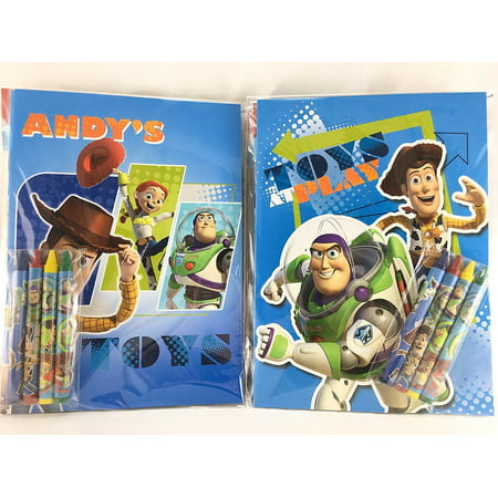 Coloring Book Set - Party Favors Toy Story Coloring Book & Crayon Set 12 Pack ( Assorted Style)