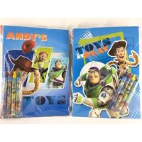 Party Favors Toy Story Coloring Book & Crayon Set 12 Pack ( Assorted Style)