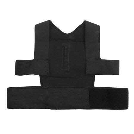 Men Women Adjustable Posture Corrector Lumbar Support Shoulder Back Brace Belt - image 4 de 12