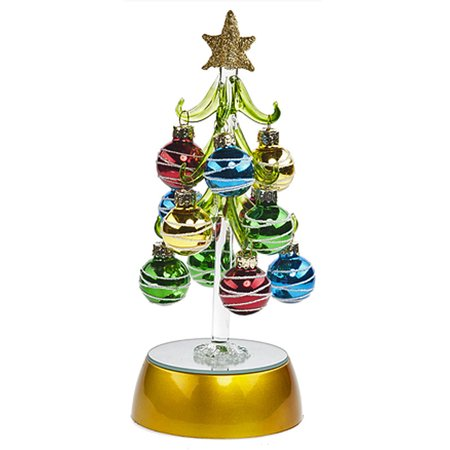 Swirl Ornament Light Up Mini Christmas Tree - By Ganz ...