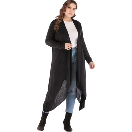 f310ccc4dca SAYFUT - Plus Size Cardigan Lightweight Sweaters for Women Long Cardigan  Duster Sweater Cover-up Black Purple Kimono Cardigan Thin Tops - Walmart.com