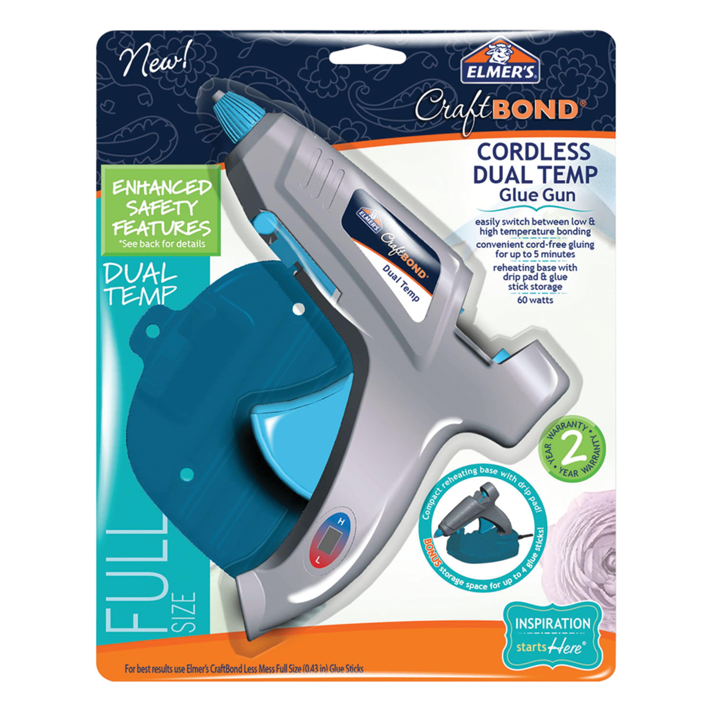 Elmer's Enhanced Safety Hot Glue Gun, Dual Temp, Full Size, 60W by Elmers Products Inc