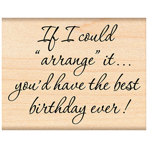 "Penny Black Mounted Rubber Stamp, 1.75"" x 2.25"", Best Birthday"