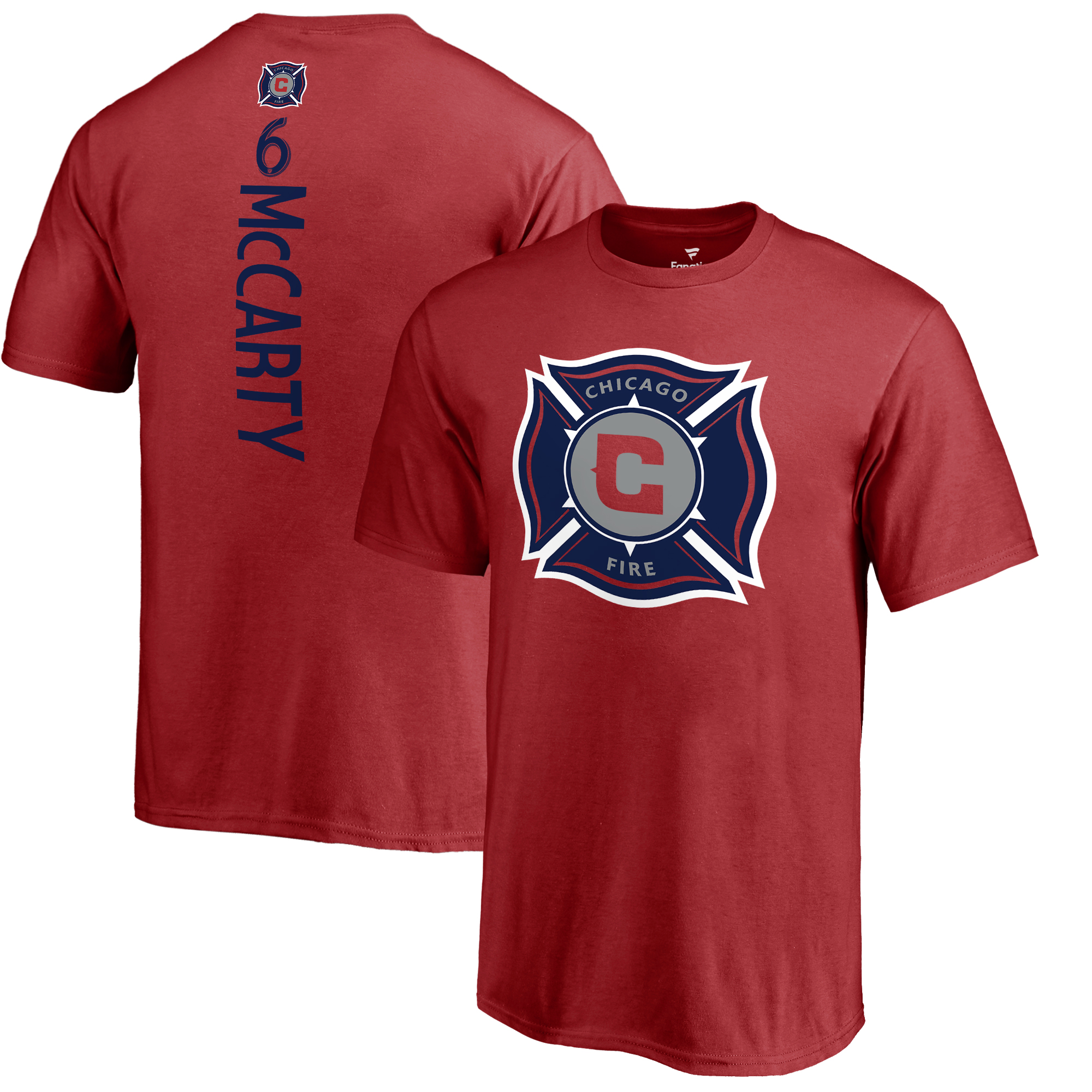 Dax McCarty Chicago Fire Fanatics Branded Youth Backer Name & Number T-Shirt - Red