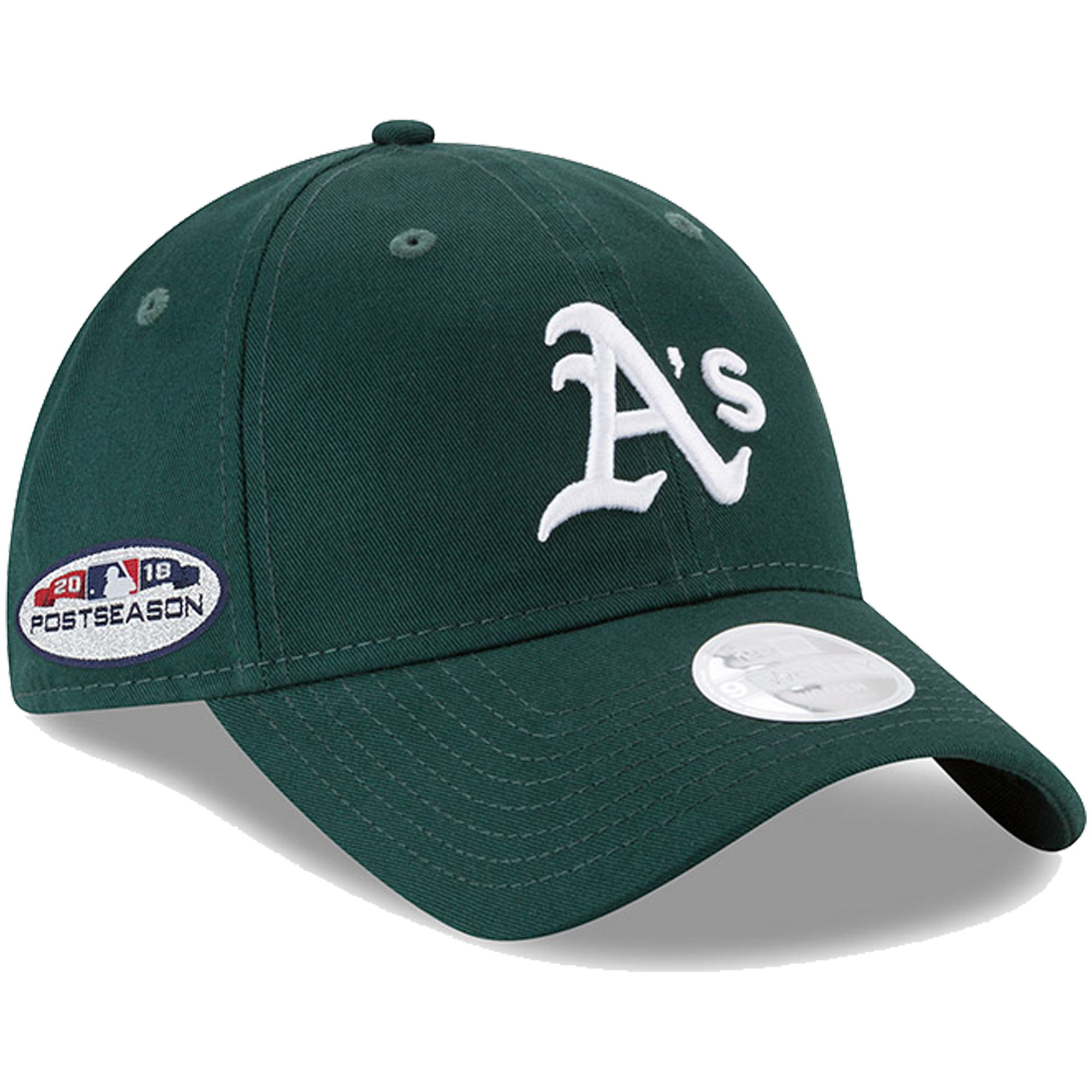 Oakland Athletics New Era Women's 2018 Postseason Side Patch 9TWENTY Adjustable Hat - Green - OSFA