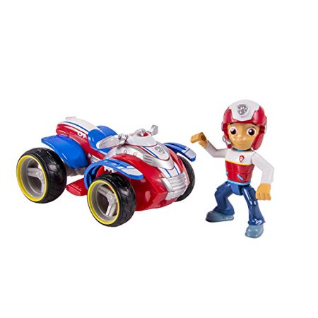 Nickelodeon, Paw Patrol - Ryder's Rescue ATV, Vehicle and Figure (works with Paw Patroller) (Reader Rescue)