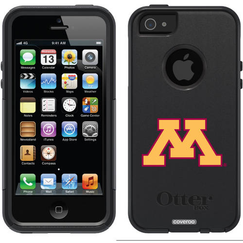 University of Minnesota Yellow M Design on OtterBox Commuter Series Case for Apple iPhone 5/5s