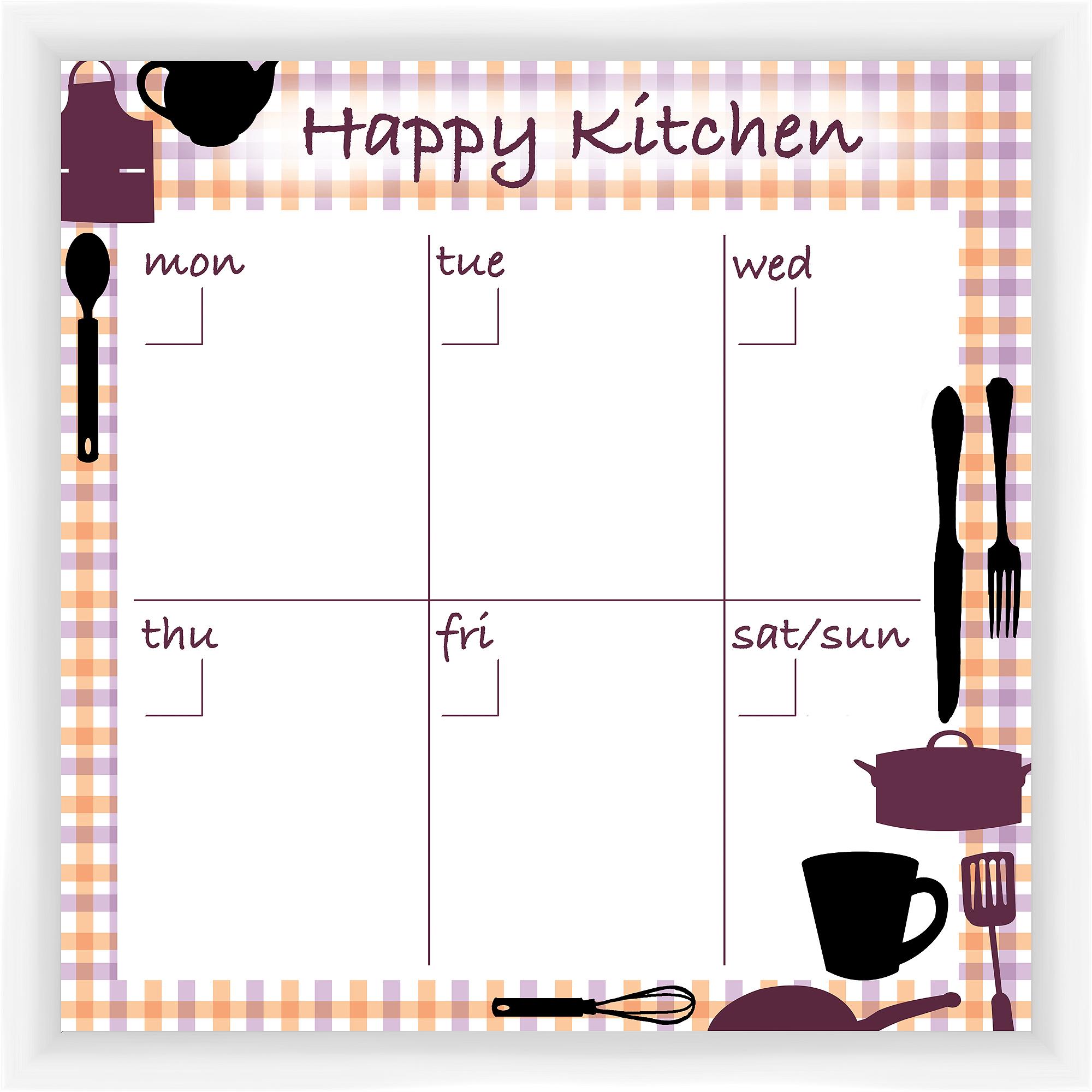 Happy Kitchen White Memoboard