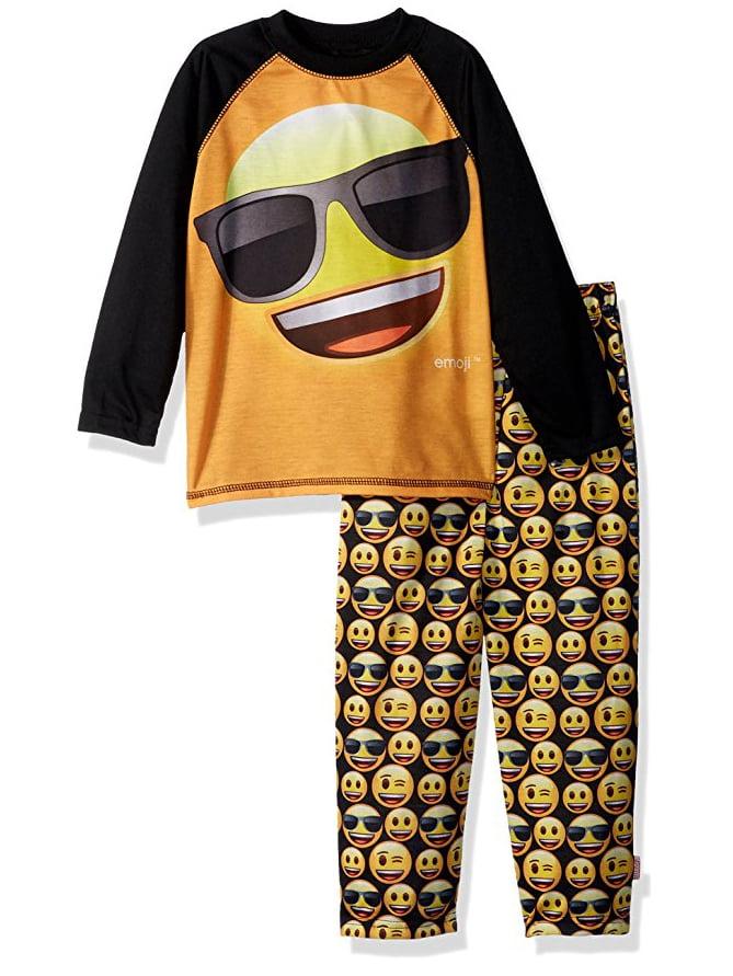 Emoji Long Sleeve Raglan Top & Pants Pajamas, 2-piece Set (Toddler Boys)