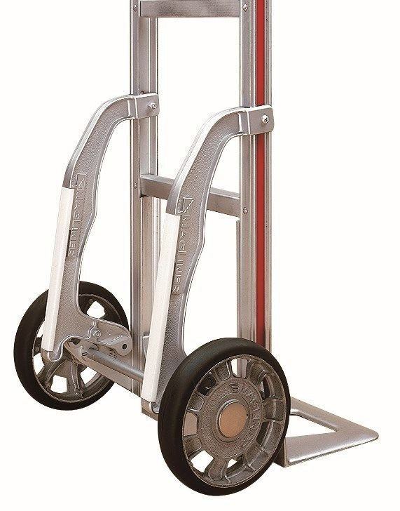 """Assembled 60"""" Tall Magliner Hand Truck 14"""" Nose 10"""" Tire w Glides   Padded Top by HTAC"""