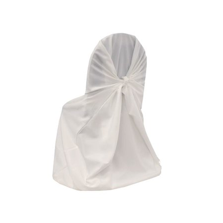 - BalsaCircle White Universal Polyester Chair Self Tie Cover - Party Wedding Reception Home Dining Catering Decorations Supplies