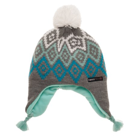 Swiss Tech Youth Thinsulate M-80 Fleece Lined Fairisle Peruvian Knit (Youth Avalanche Cap)