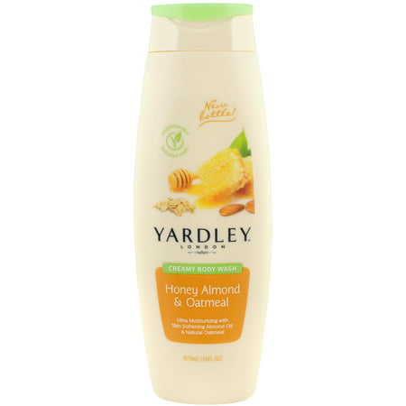 Yardley London Creamy Body Wash, Honey Almond & Oatmeal, 16 Oz