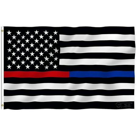 G128 – 3x5 feet, Thin Red & Thin Blue Line Flag ...