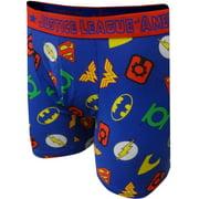 Underboss Men's DC Comics Justice League Symbols Boxer Brief (Large)