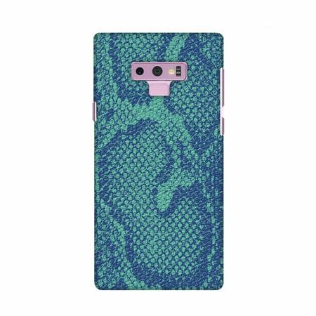 Samsung Galaxy Note9 Case, Premium Handcrafted Designer Hard Shell Snap On Case Shockproof Printed Back Cover forSamsung Galaxy Note9 - Snakes - Teal And Blue Skin