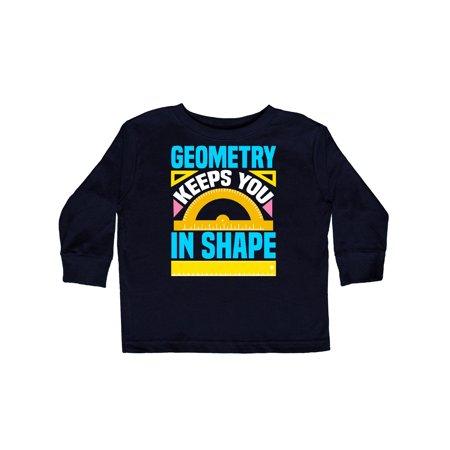 Geometry Math Geek Funny School Toddler Long Sleeve T-Shirt Geek Pink T-shirt
