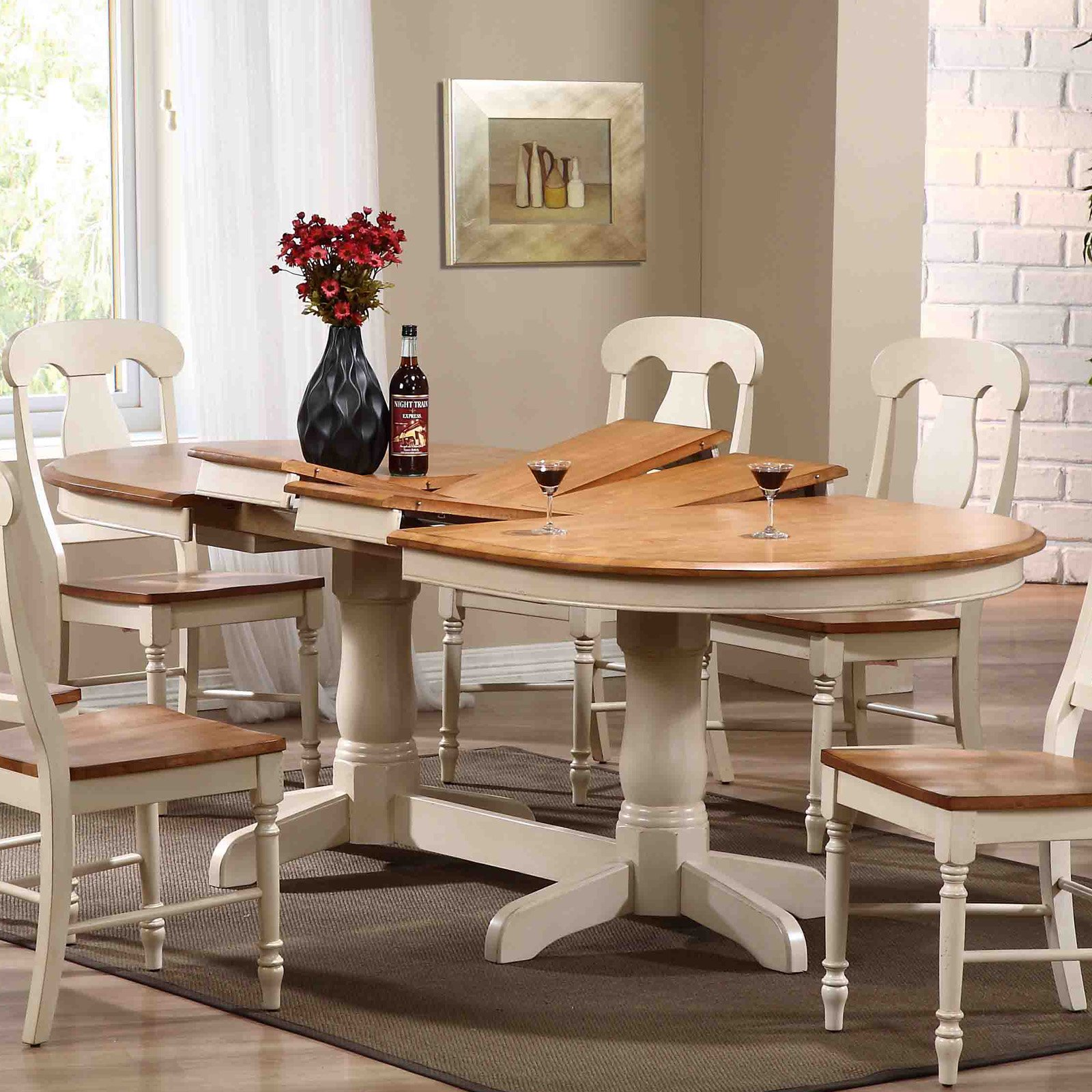 Iconic Furniture Oval Pedestal Dining Table