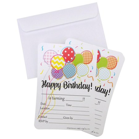 Happy Birthday Invitation Envelope, White, 7-Inch, 12-Piece (Birthday Direct Coupon)