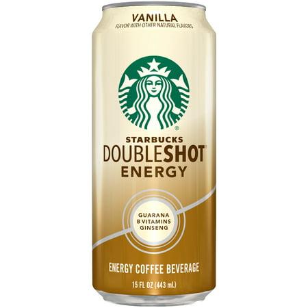 (2 Cans) Starbucks Doubleshot Energy Vanilla Energy Coffee Beverage 15 fl.