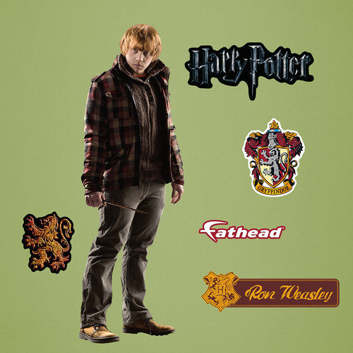 Fathead Harry Potter Ron Weasley - Deathly Hallows Junior Peel and Stick Wall Decal
