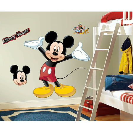 disney mickey mouse giant wall decal - walmart