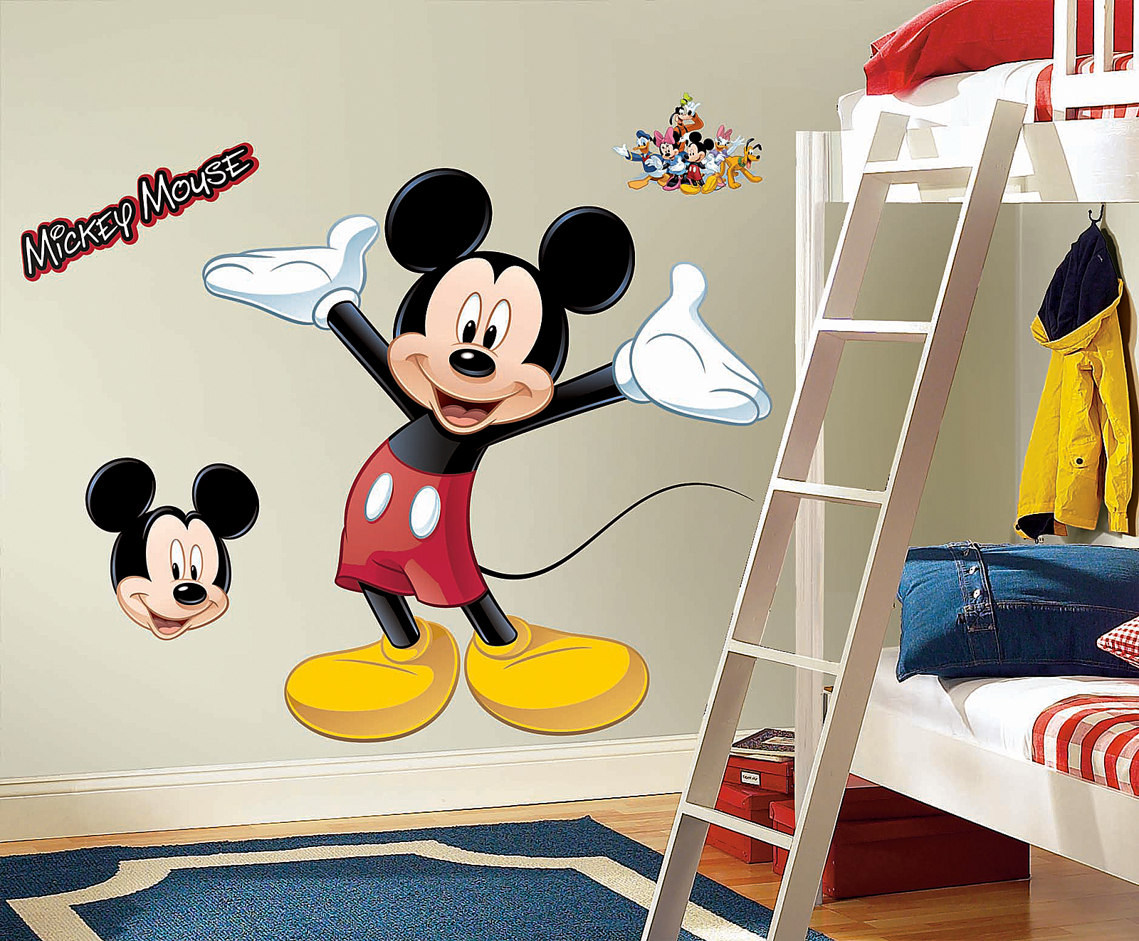 Elegant Disney Mickey Mouse Giant Wall Decal