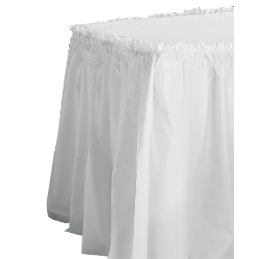 "Tablemate Table Set Linen-Like Table Skirting, 29"" x 14ft, White"