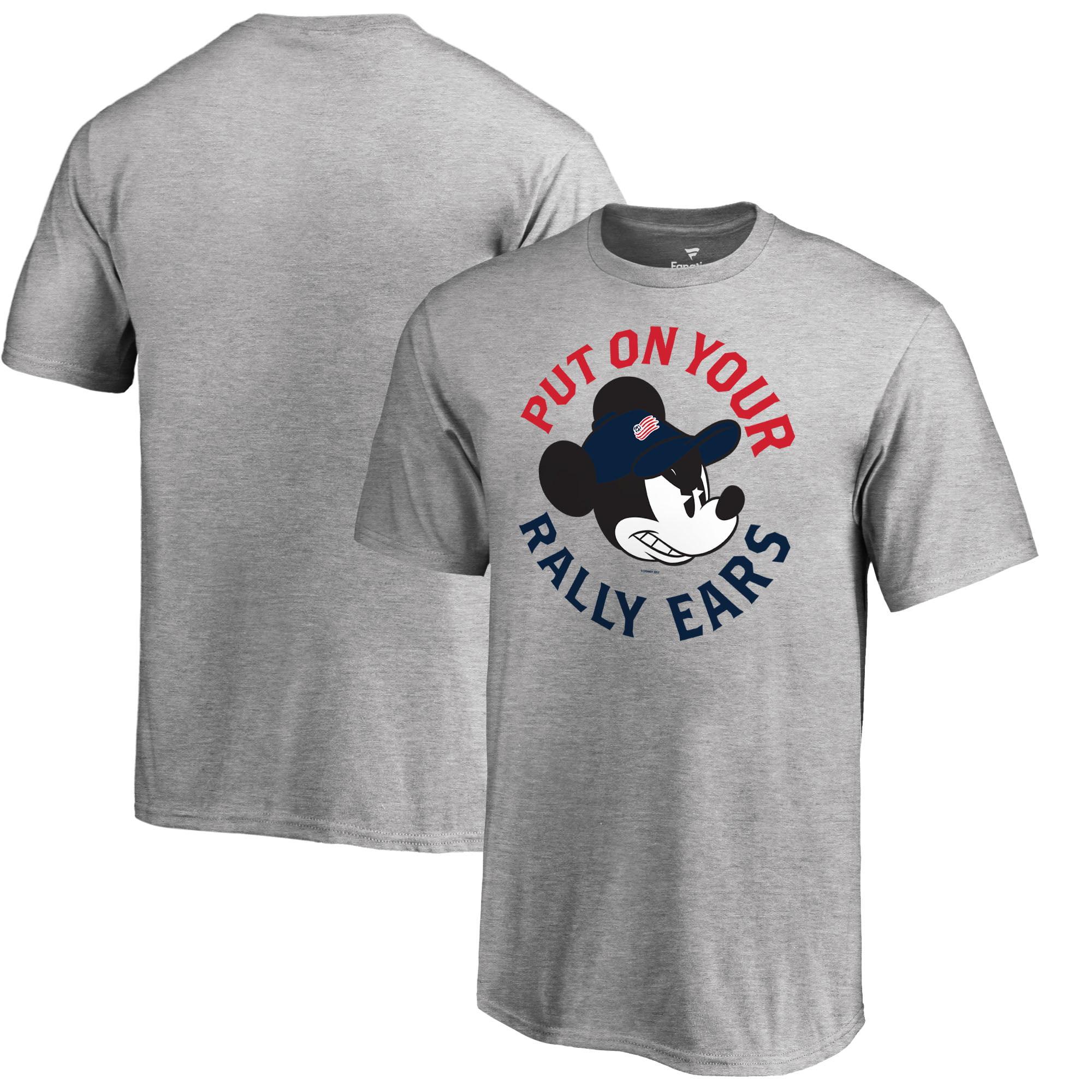 New England Revolution Fanatics Branded Youth Disney Rally Ears T-Shirt - Heathered Gray