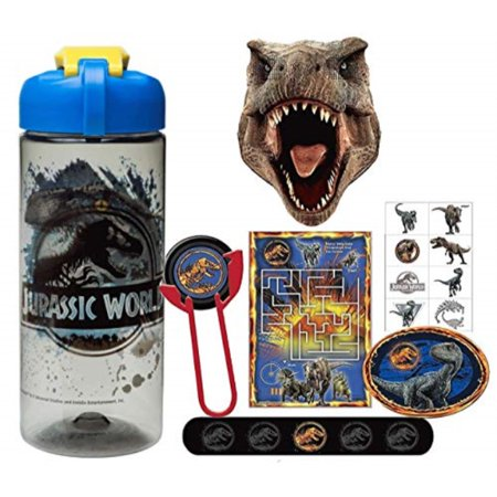 jurassic world fun sip favor cup valentines day gift, easter basket filler, stocking stuffer or party favor! pre-filled & ready for giving! includes keepsake tumbler, stickers & favors! ()