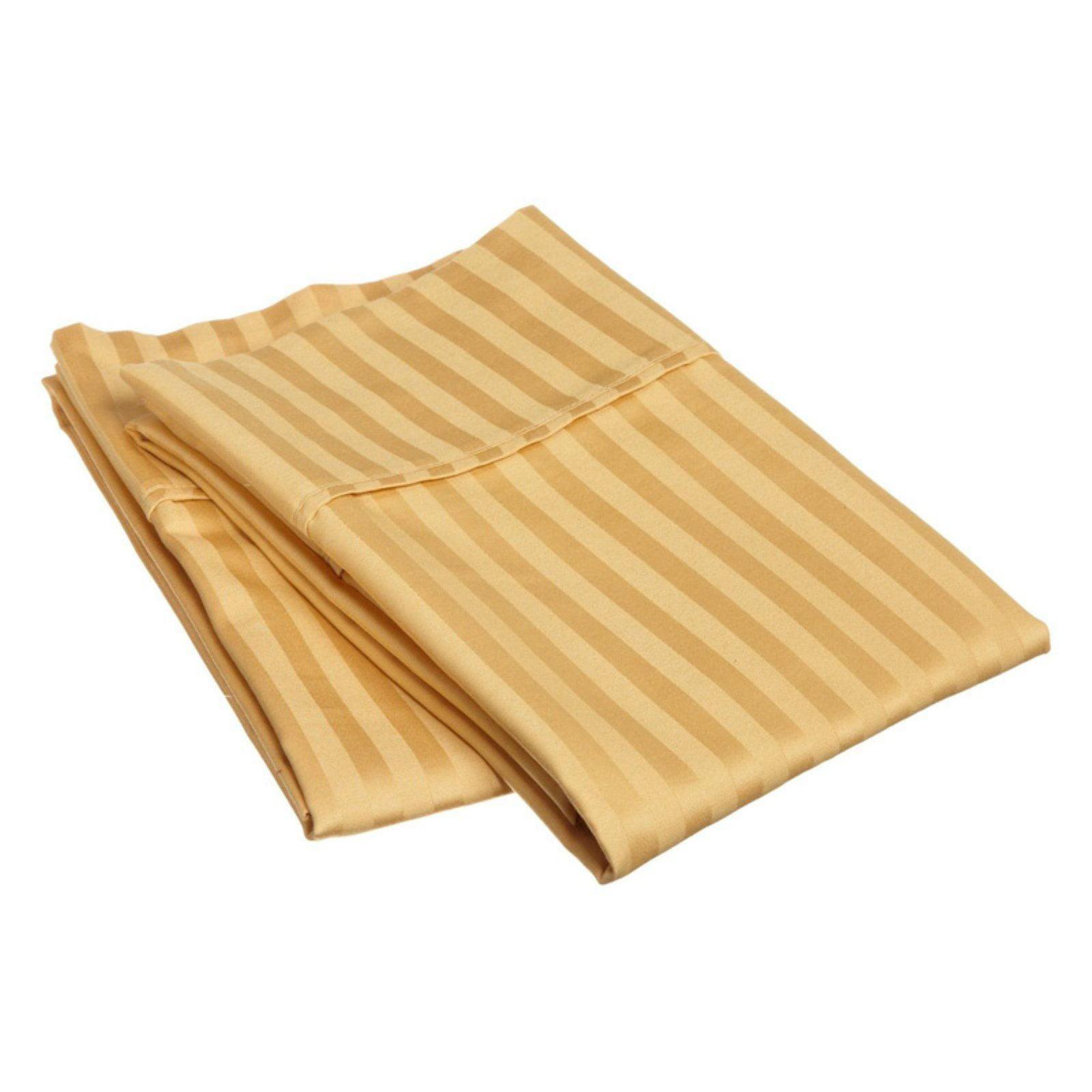 Superior 300 Thread Count Long-Staple Combed Cotton Stripe Pillowcase Set