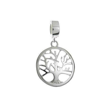 Sterling Silver Family Tree Of Life European Style Dangle Bead Charm Fits Pandora