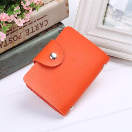 Christmas Clearance Unisex PU Leather 24 Cards Slots Men Women Purse Wallet Pocket Case ID Credit Card Holder WLT