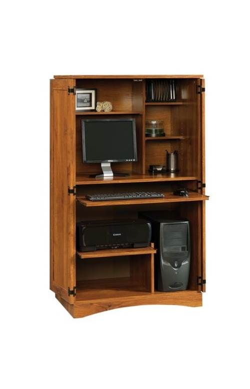 Harvest Mill Computer Armoire in Abbey Oak Finish by Sauder Woodworking