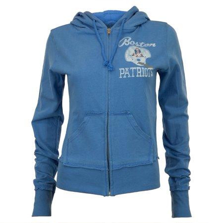 Boston Patriots - Old School Logo Juniors Zip Hoodie - Small Womens Old School Knit Hooded